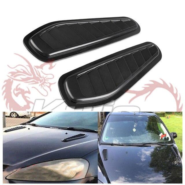 Auto Dekoratif Aliran Udara Masuk Sendok Turbo Bonnet Vent Cover Hood untuk  Fender 1 Pair HS003 82898bb4fc