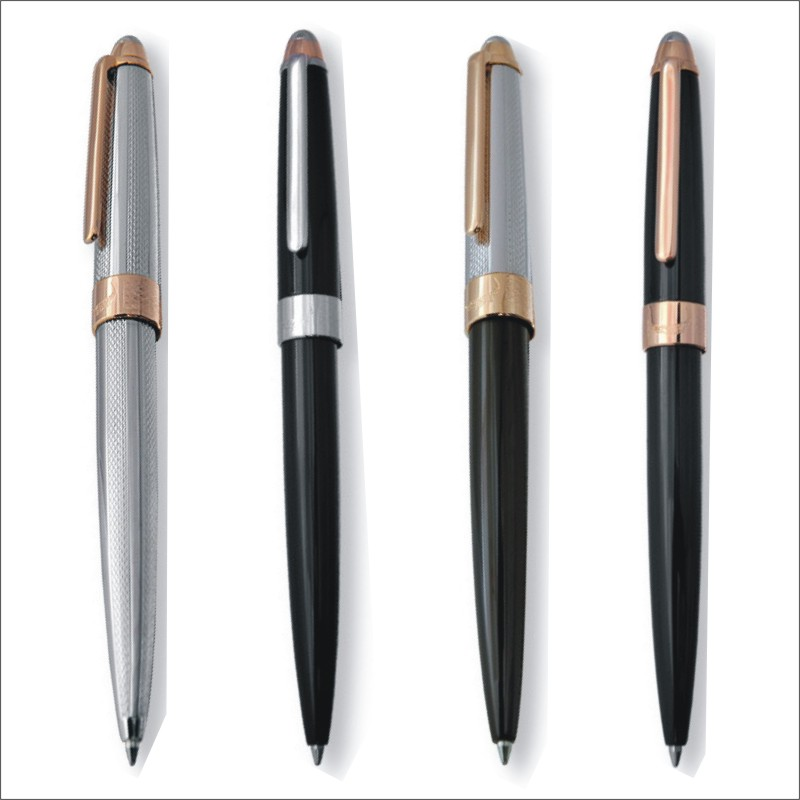 Crocodile 136 Writing Fluency Luxury Ballpoint Pen with 0.7mm Metal Gift Roller Ball Pens Office School Stationery Supplies jinhao ballpoint pen and pen bag school office stationery brand roller ball pens men women business gift send a refill 016