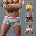 Low waist boxers trunks Male underwear panties Solid U convex style Gay cuecas Mens boxershorts Buttocks underpants 3XL CETHIA