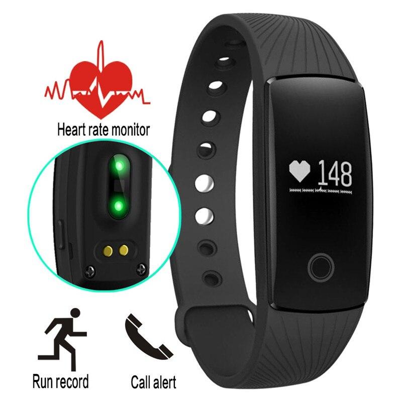Hot Updated V05C ID107 Sport Bluetooth 4 0 Smart Bracelet smart band Heart Rate Monitor Wristband