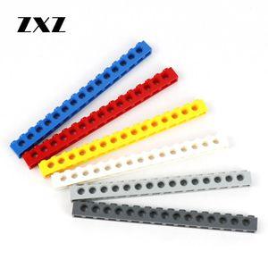 Image 1 - Technic Brick 1 x 16 15 Holes Building Blocks Parts Enlighten MOC Toys for Children 3703 Technic Long Beam