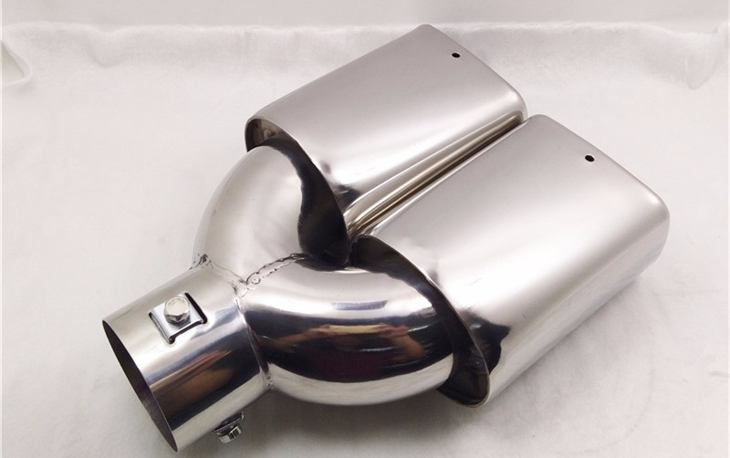 "Chrome Stainless Steel 63mm 2.5/""  Slant Cut Car Exhaust Muffler Tip Universal"