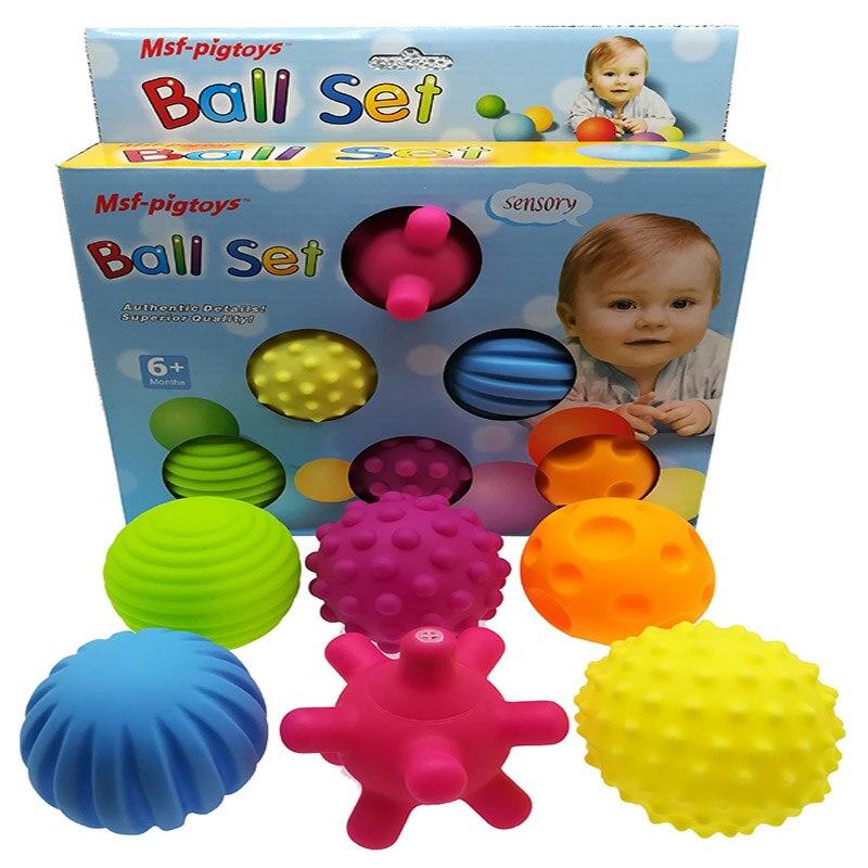 Jouet de bébé sensoriel à la main en caoutchouc texturé toucher jouet balle Multi Tactile sens Massage de formation de bébé balles souples jouet balle de compression ensemble