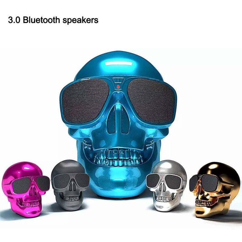 New Mini Speaker Skull Shape Speakers Bluetooth Por
