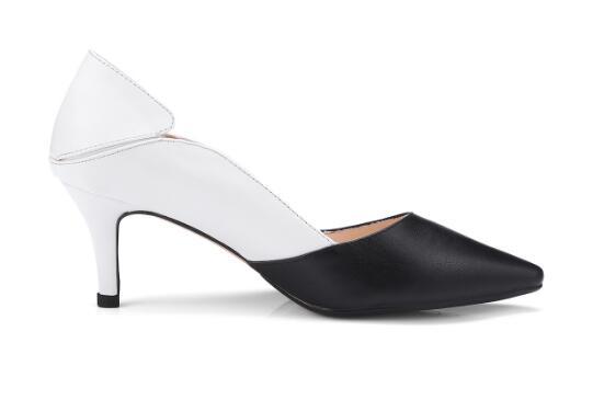 Altos Blanco Fino Tacones Zapatos Medio Negro Mujeres Picture nqwgBCF4 c92d18e96da3