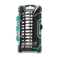 PD 398 13pcs Blades SK5 Aluminum Handle Knife Repair Kit Tool Assembly Part Carving Handcraft Knife