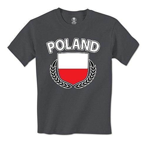 man t shirt Poland Flag Crest Olive Wreath Laurel Polish Pride Mens T-Shirt