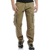2017 Polar Sıcak Kış Kargo Pantolon Erkek Rahat Gevşek Çok cep erkek Askeri Ordu Yeşil Haki Pantolon Pantolon Işçisi Erkekler için