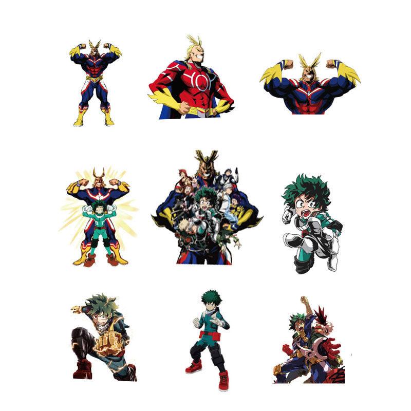 50pcs//set My Hero Academia Character PVC Adhesive Stickers For Laptop Luggage