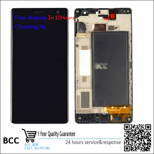 Best Quality!! Original New For Nokia lumia 730 735 Touch screen  Digitizer +LCD display with frame Test Ok +tracking number original lcd screen display touch panel digitizer with frame for htc desire 300 free shipping test ok best quality