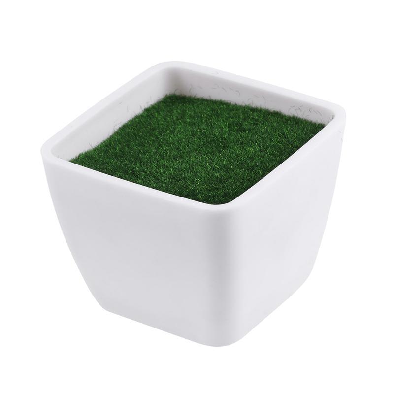 White Geometry Plastic Flower Pot Plant Vase Simple Modern Flowerpot With Foam Floral Arrangement Accessories Home Decor