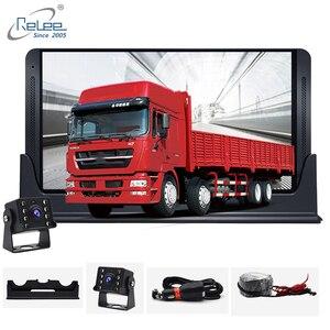 Image 1 - Relee RLDV 11 Cámara dvr de camión Sistema de pantalla táctil cámara de salpicadero Dual FHD 1920x1080P grabadora de vídeo 7,0 pulgadas caja negra de coche