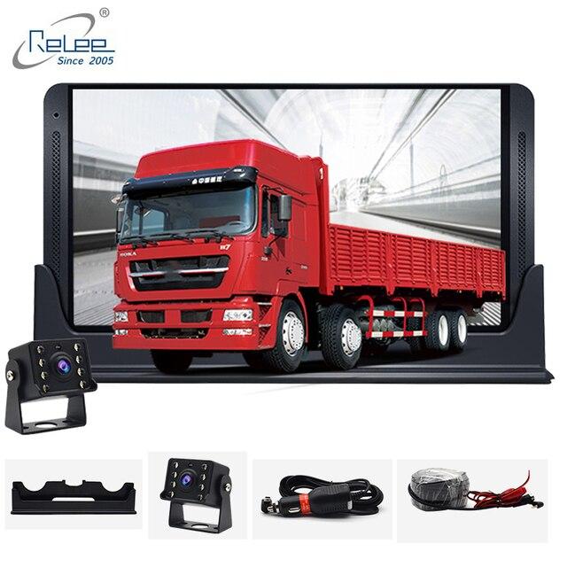 Relee RLDV 11 Cámara dvr de camión Sistema de pantalla táctil cámara de salpicadero Dual FHD 1920x1080P grabadora de vídeo 7,0 pulgadas caja negra de coche