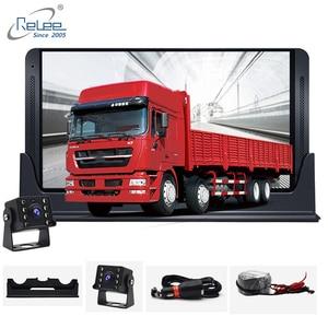 Image 1 - Relee RLDV 11 Vrachtwagen dvr camera systeem touch screen Dash Cam Dual FHD 1920x1080 P Video Recorder 7.0 Inch auto black box