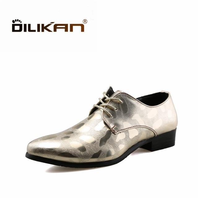 c24aff9b DILIKAN Nueva Moda Zapatos de Vestir de Cuero de Los Hombres Caballero Al  Aire Libre Para