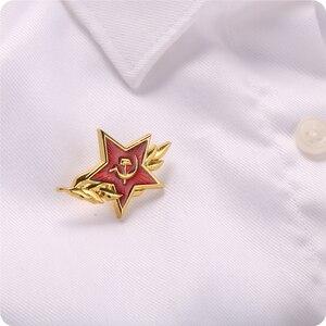 Image 3 - Значок с символом холодной войны советский СССР красный Звездный серп молот