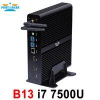 Причастником безвентиляторный Intel core i7 7500U игровой Мини ПК оконные рамы 10 Настольный компьютер linux неттоп Скелет аудиовидеоцентра HD620 4 к 300 м ...