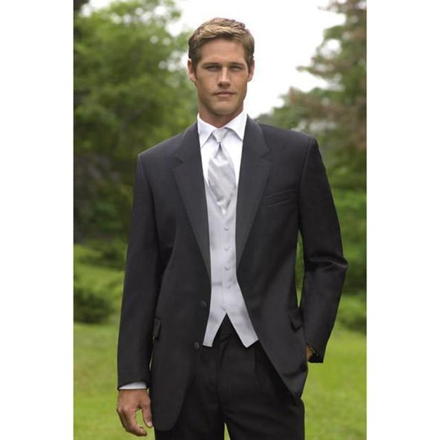 cdab757da79b5 2018 ternos masculino negro solapa del novio trajes ternos 2017 mejor hombre  mejor traje de los