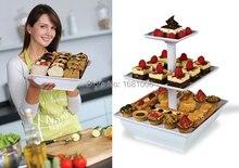 Montieren Snack und Kuchen Server, 2 oder 3 Tiers, weiß, platz, einfache lagerung K008