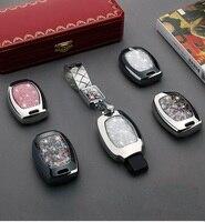 Key Case Cover Crystal Diamond keychain For Mercedes Benz A AMG C180 CLK E260L CLA CLS R S320 SLK S400 GLK GLA 3 button key cove