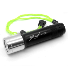 Diving Light Underwater 100 Meters Powerful Cree XML T6 3800 LM Led Flashlight Lantern Scuba Flashlights Lamp & 18650 / 3 x AAA