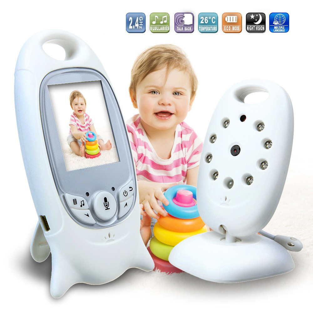 Home Room use Old People Baby Monitor Wireless 1 to 1 Camera System Portable 8 Music Inside HD Night version Security camera