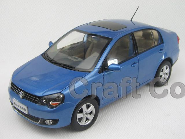 Azul 1:18 Volkswagen VW Nuevo POLO Sedan sedan Aleación Modelo Diecast Show Car juguetes Clásicos Modelos A Escala