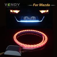 Car LED Rear Trunk Tail Dynamic Streamer Warning Lights DRL For Mazda 3 Axela Mazda 6