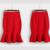 Moda Casual 2016 Otoño Cintura Alta Midi Lápiz Faldas de cola de Pescado de Las Mujeres Acampanados Femenina Falda de Las Mujeres Negro/rojo Más tamaño