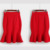 Moda Outono 2016 Ocasional Cintura Alta Lápis Midi Saias Fishtail Flared Saia das Mulheres Das Mulheres do Sexo Feminino Preto/vermelho Mais tamanho