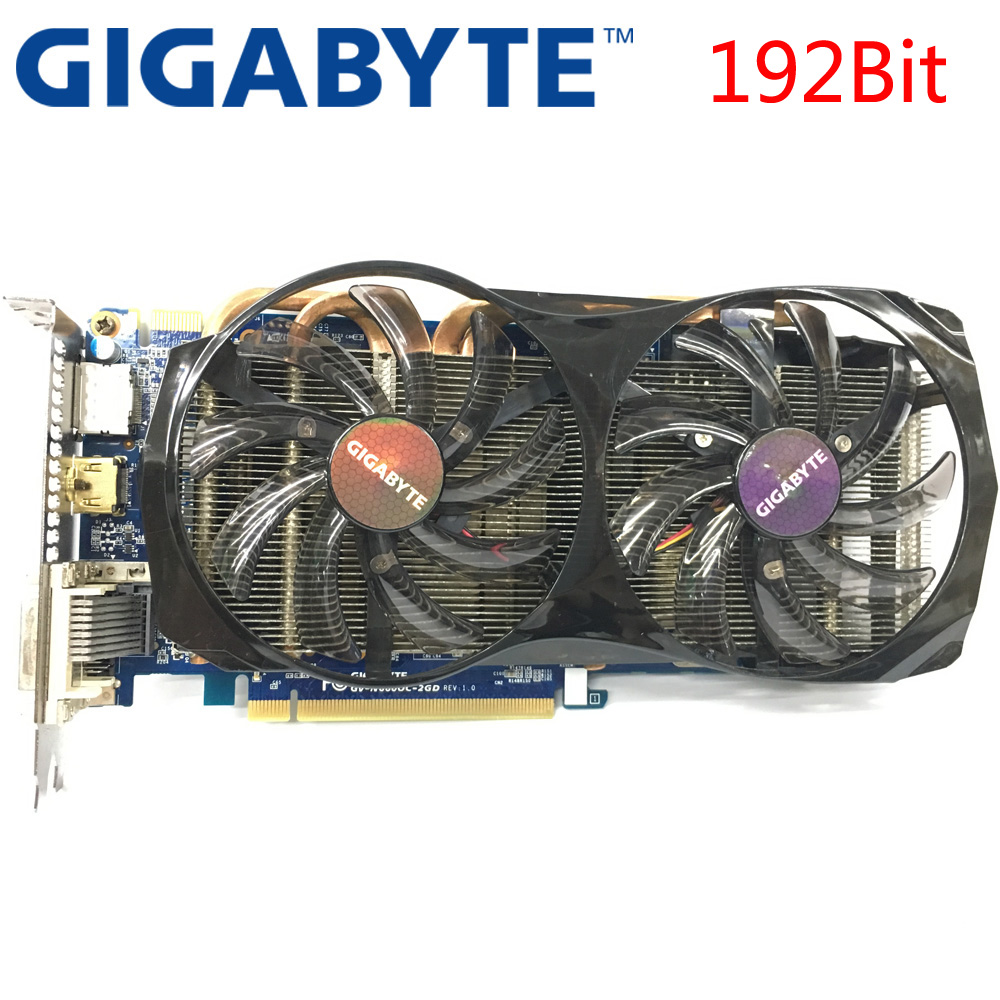 GIGABYTE Video Card GTX660 2GB 192Bit GDDR5 Graphics Cards for nVIDIA Geforce GTX 660 Used VGA Cards stronger than GTX 750 Ti(China)