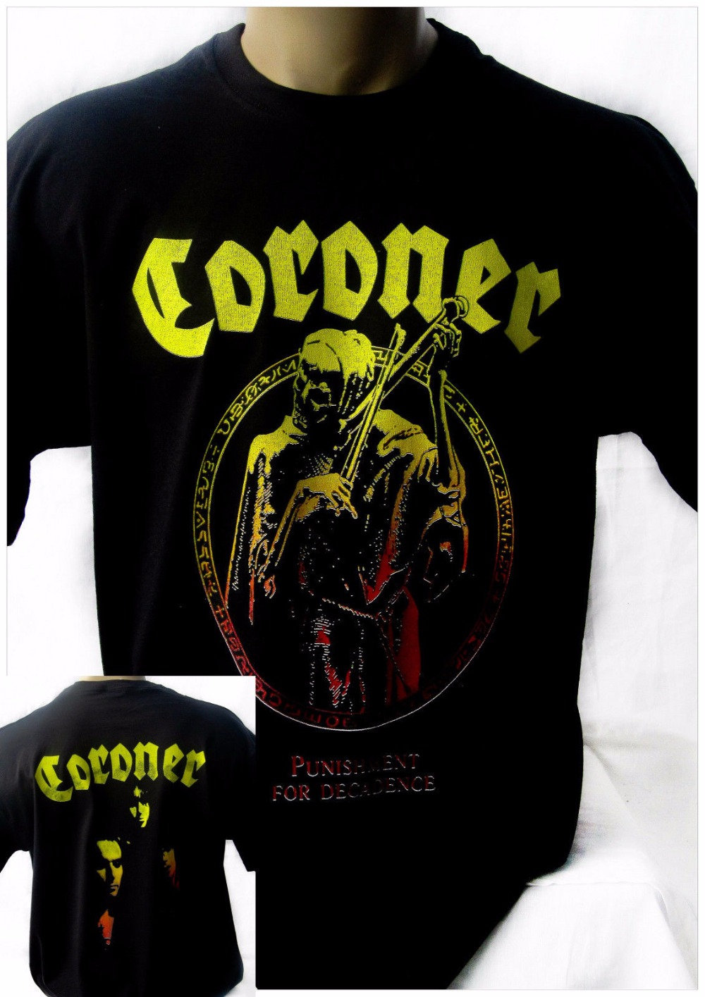 Coroner Punishment For Decadence Black New T-Shirt Rock T-Shirt Rock Band Shirt Tshirt Tops Summer Cool Funny T-Shirt