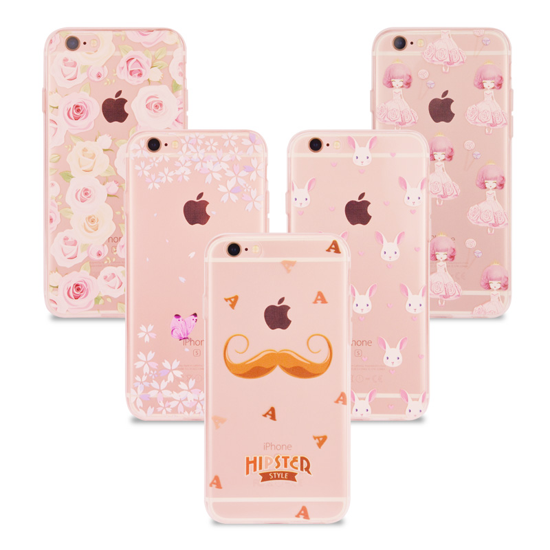 Silicone Case For iPhone 7 Cases Cover Soft Ultra Thin Slim Coque Patterns Silicon Funda Phone Bag Case For iPhone 7 6 6S Plus 5