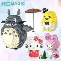 HC Mini Micro Diamond Particle Block Cartoon Pikachu Spongebob Mario Winnie Anime Block Decompression Educational Children Toys