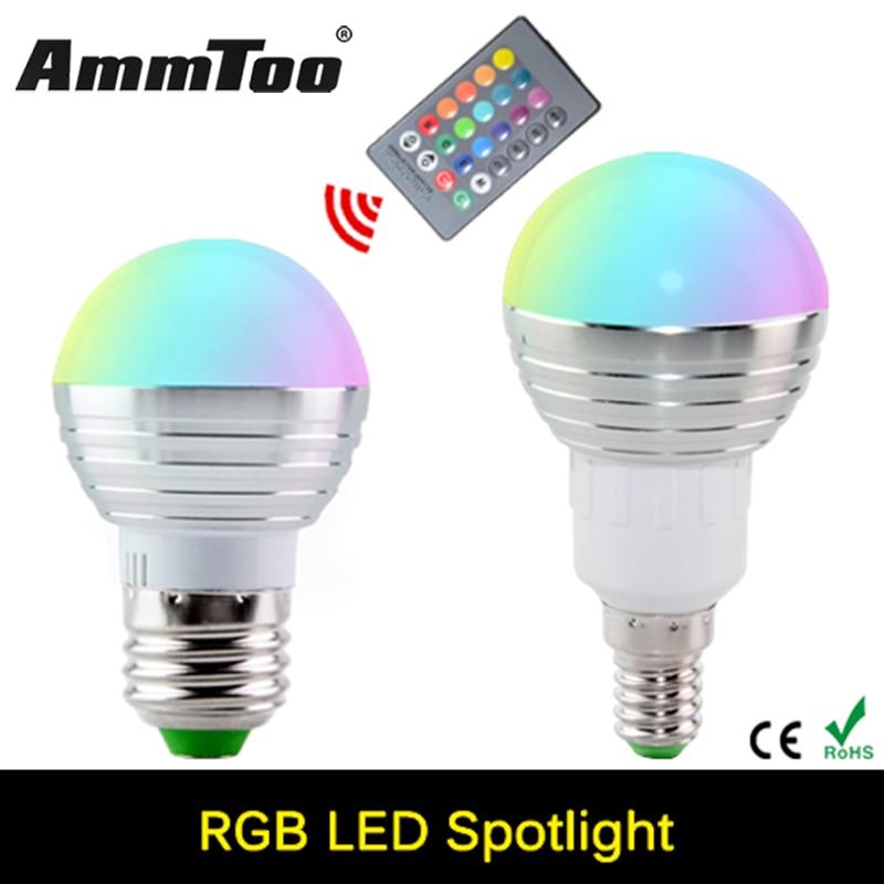 e27 rgb led lamp 110v 127v 220v 230v e14 rgb led light 3w. Black Bedroom Furniture Sets. Home Design Ideas