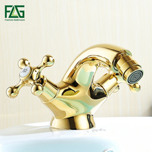 Comteporary Style Dual Handle Basin Vanity Sink Vessel Bathroom Faucet Mixer Tap,Gold Finished newly gold plate tall basin vessel faucet gragon head bathroom sink mixer faucet tap dual crystal handles
