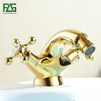 FLG Basin Faucets Brass Bathroom Sink Faucets Dual Single Handle Hot Cold Wash Mixer Water Tap WC Cock Torneira Banheiro