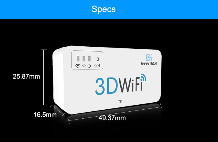 Geeetech 3D WiFi Module with TF Card Supports USB/Wireless Connectivity