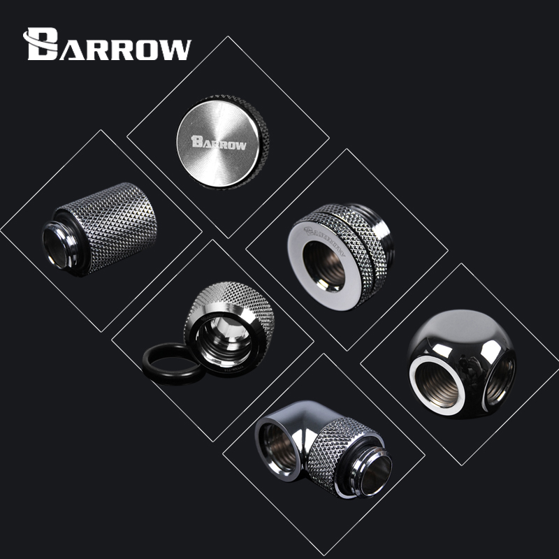 BARROW S Version Metal Fitting Computer Connector use for Water Cooling System Extend Fitting 45-90 Angle Cable Adapter P