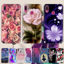 TPU Phone Case For Vivo V15 V15 pro V15Pro V 15Pro V 15 Pro Silicone Phone Cover Print Painted Back Shells Flower Funda Coque цена
