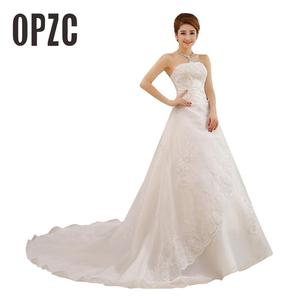 Image 1 - Cheap Real Photo Customized Princess Lace with Train China 2020 Vintage Plus Size Wedding Dresses Bridal Gowns vestido de noiva