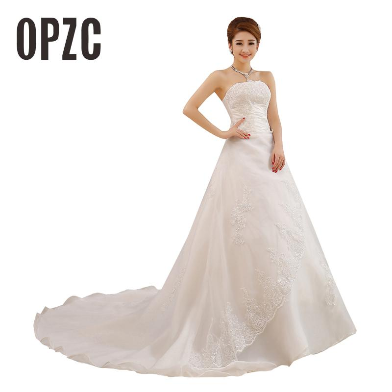 Cheap Real Photo Customized Princess Lace with Train China 2020 Vintage Plus Size Wedding Dresses Bridal Gowns vestido de noiva(China)