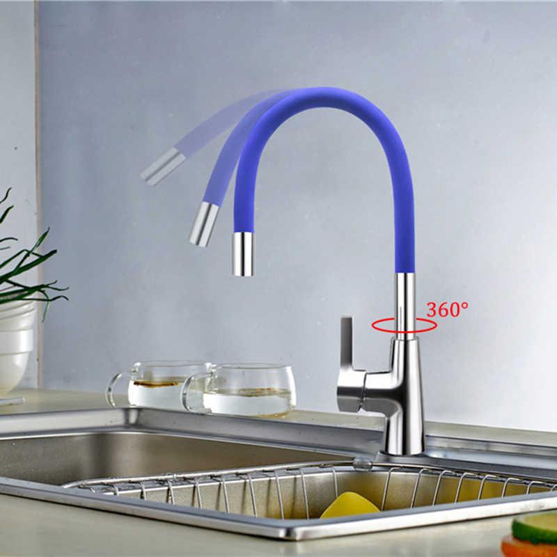 XOXO 360 มาถึงใหม่ 7 สีซิลิกาเจลจมูกๆทิศทางหมุนก๊อกน้ำห้องครัวเย็นและน้ำอุ่น 1301R