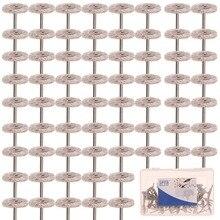 ЗИП 1 «(25 мм) Высокая Производительность Абразивных Заусенцев Очистки Вращающаяся Щетка Колеса Набор Для 1/8» (3 мм) Dremel Вращающихся Инструментов Упаковка из 80 Шт.