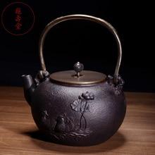 Мандарин утка узор изысканный чугунный чайник набор японский чайный горшок 1500 мл Посуда Кунг Фу Infusers бизнес подарок