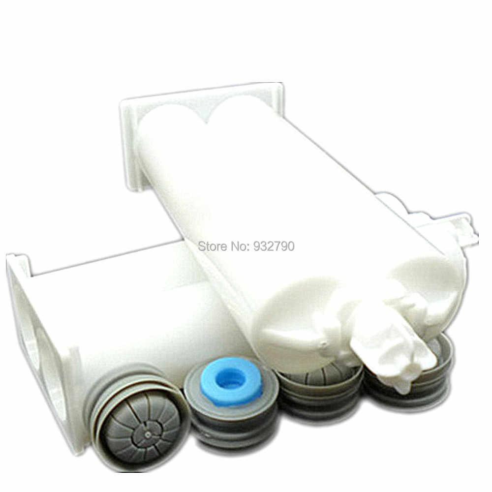 2 세트 50ml 1:1 AB 에폭시 접착제 카트리지 배럴 PP 일회용 듀얼 접착제 카트리지 두 액형 튜브 디스펜스 건