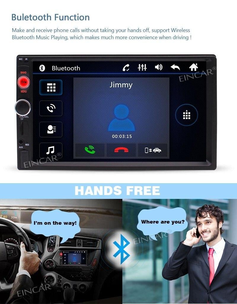 7 двойной DIN в тире стерео mp5 плеер Bluetooth FM Радио automitive автомагнитолы Развлечения Системы 2 DIN видео плеер