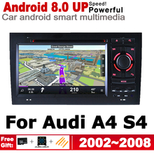 7 HD IPS DSP Stereo Android 8.0 up Car DVD GPS Navi Map For Audi A4 S4 8E 8H 2002~2008 MMI multimedia player radio WiFi System