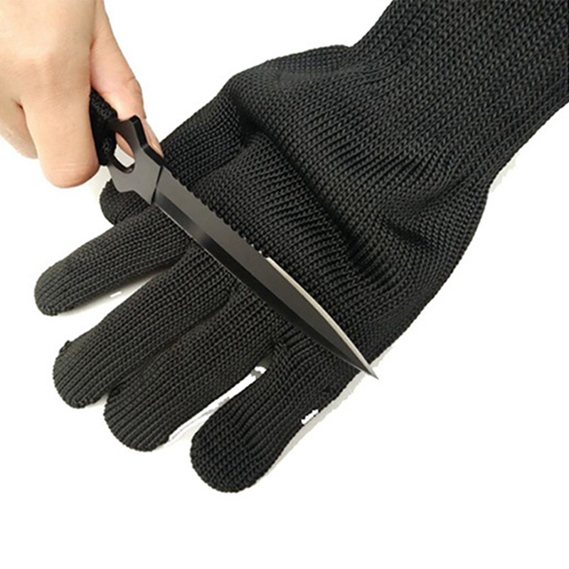 Efficient Level 5 Anti-cut Gloves Safety Cut Proof Stab Resistant Stainless Steel Wire Metal Butcher Cut-resistant Safety Hiking Gloves Camping & Hiking