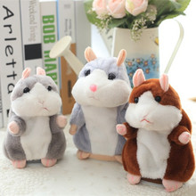 Talking Hamster Mouse Pet Plush Toy Hot Cute Speak Talking Sound Record Hamster Educational Toy for Children Gift Speak and Walk цена